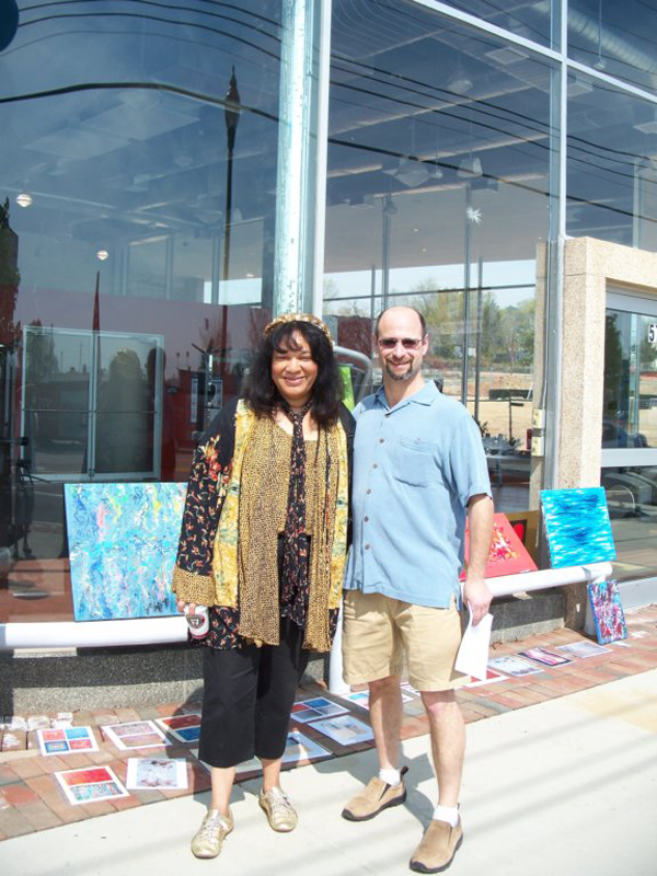 Stuart and Eileen in front of artdc Gallery at 2008's Hyattsville Arts Festival